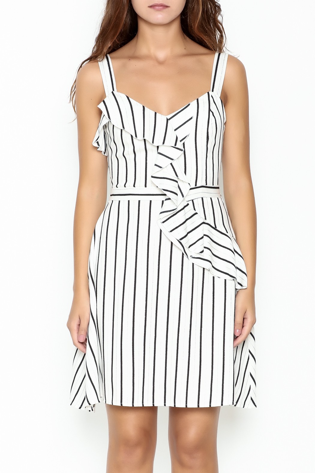 Marvy Fashion Striped Dress - Front Full Image