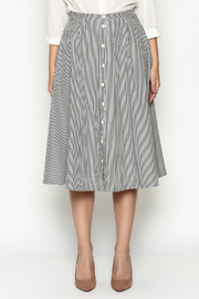 Marvy Fashion Striped Skirt - Front full body