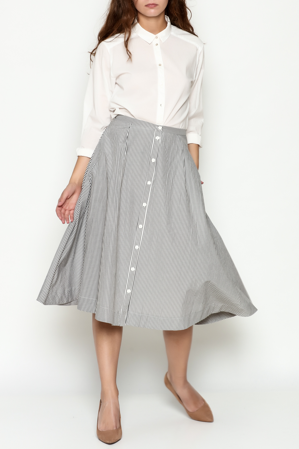 Marvy Fashion Striped Skirt - Side Cropped Image