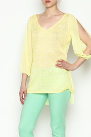 Marvy Fashion Yellow Sheer Top - Product Mini Image