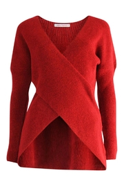 Marvy Fashion Cross Front Sweater - Front cropped