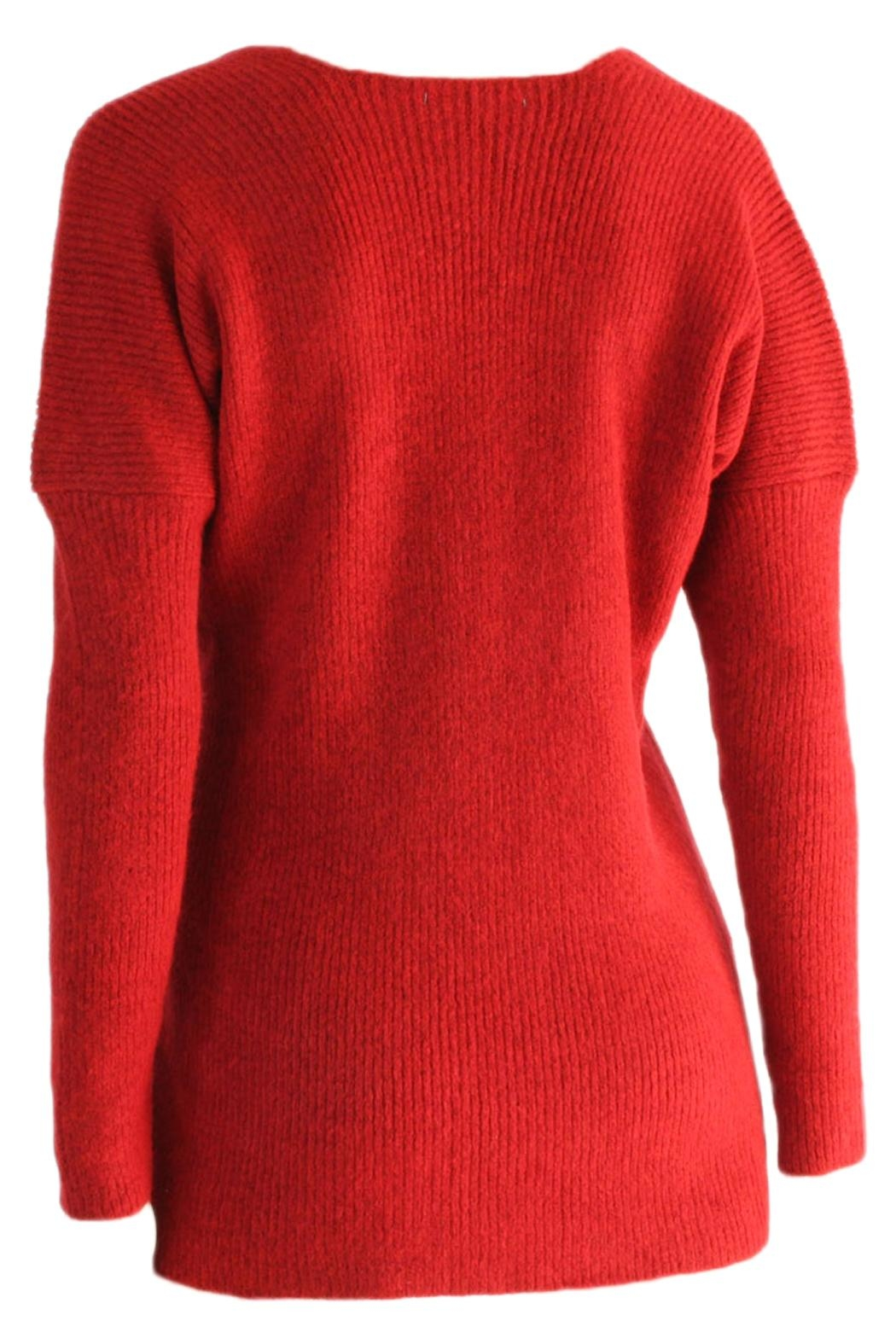 Marvy Fashion Cross Front Sweater - Front Full Image