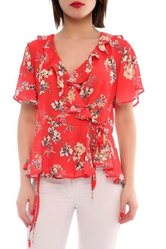 Marvy Fashion Floral Surplice Top - Product List Image