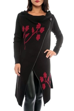 Marvy Fashion Flower Embroidered Cardigan - Product List Image