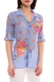 Marvy Fashion Flower Print Shirt - Product Mini Image