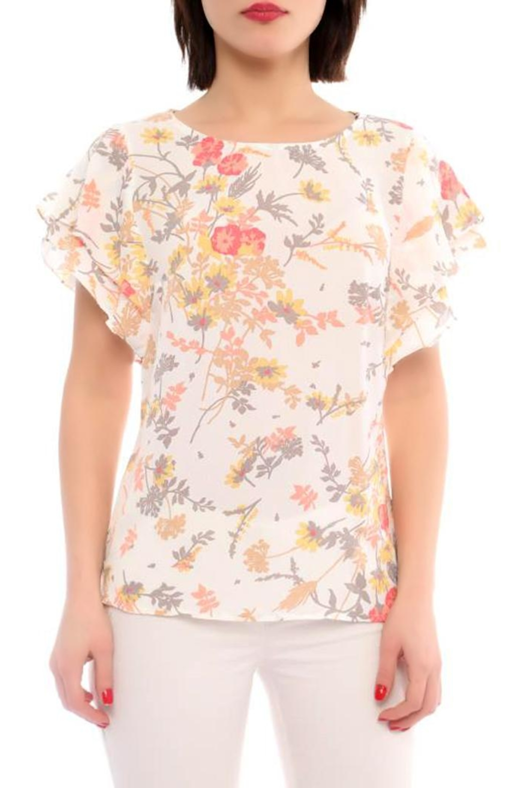 Marvy Fashion Flower Print Top - Main Image
