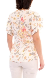 Marvy Fashion Flower Print Top - Front full body