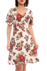 Marvy Fashion Flower Print Dress - Product Mini Image