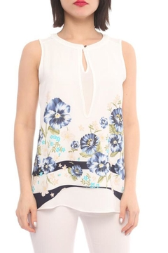 Marvy Fashion Flower Printed Top - Product List Image