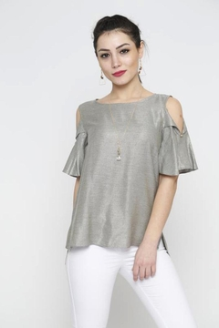 Marvy Fashion Fold-Over Sleeves Top - Product List Image