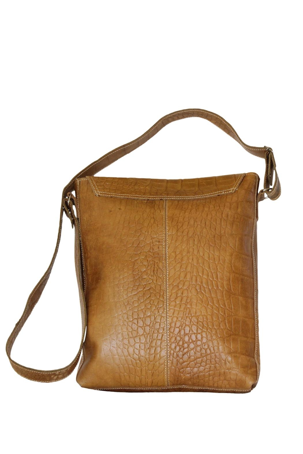 Marvy Fashion Leather Cross-Body Bag - Front Full Image