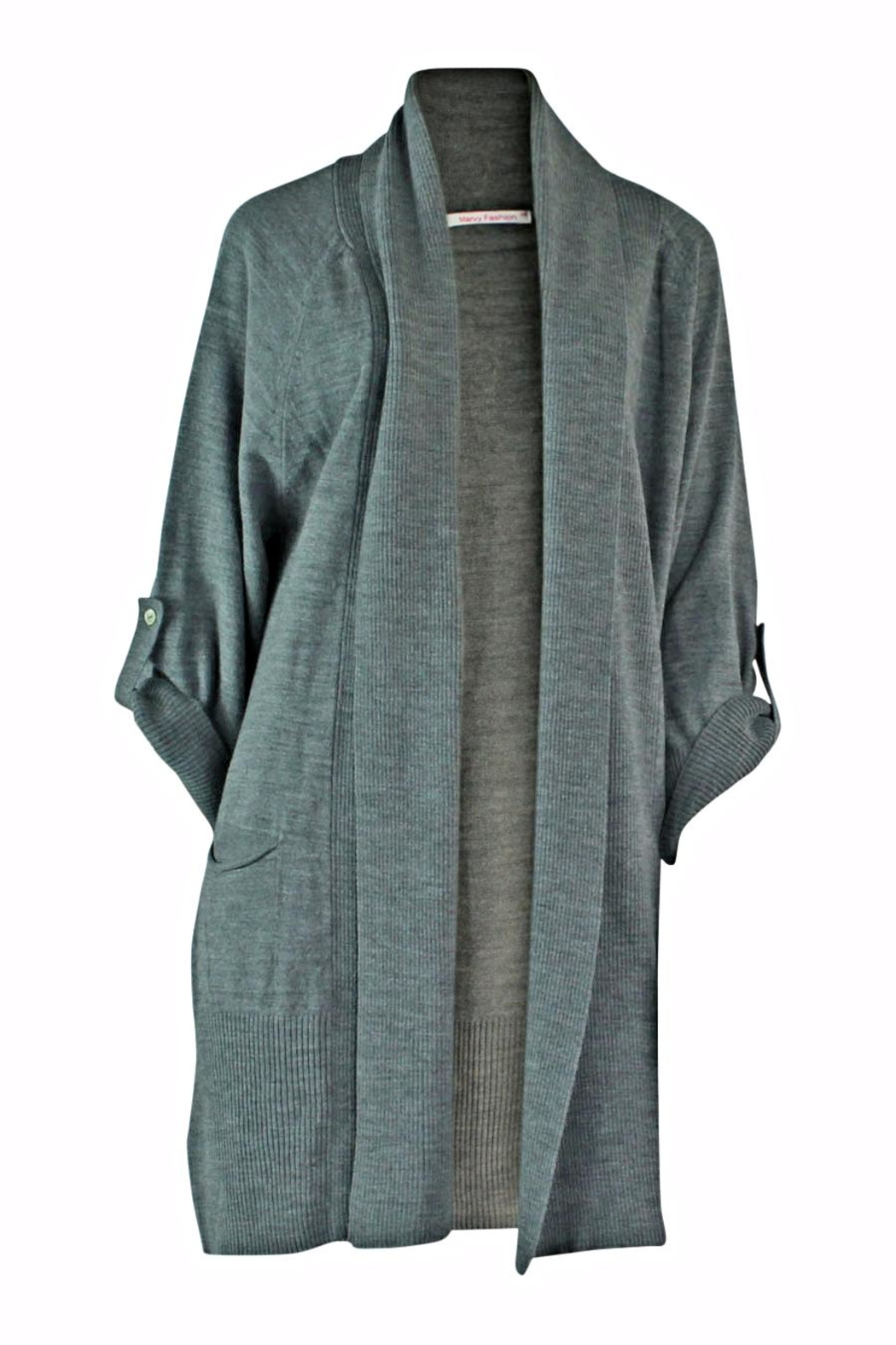 Marvy Fashion Long Open Front Cardigan - Main Image