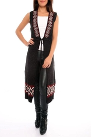 Marvy Fashion Long Vest Duster - Side cropped