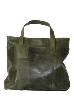 Shoptiques Product: Olive Leather Tote
