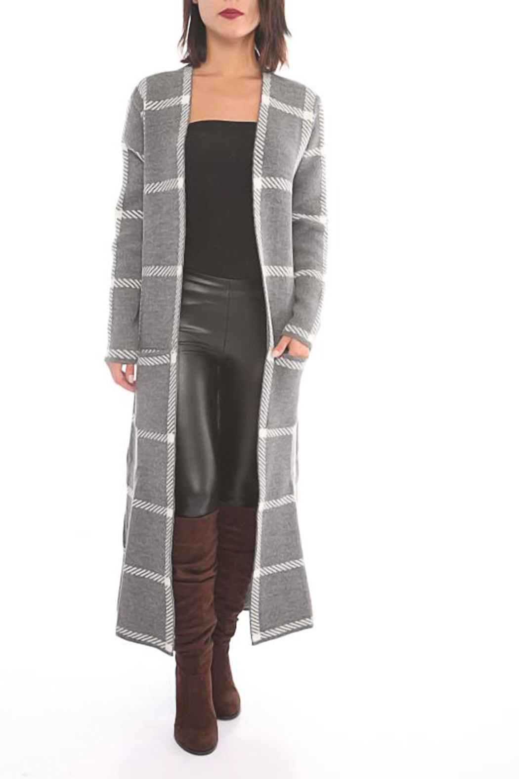 Marvy Fashion Open Long Cardigan - Front Cropped Image