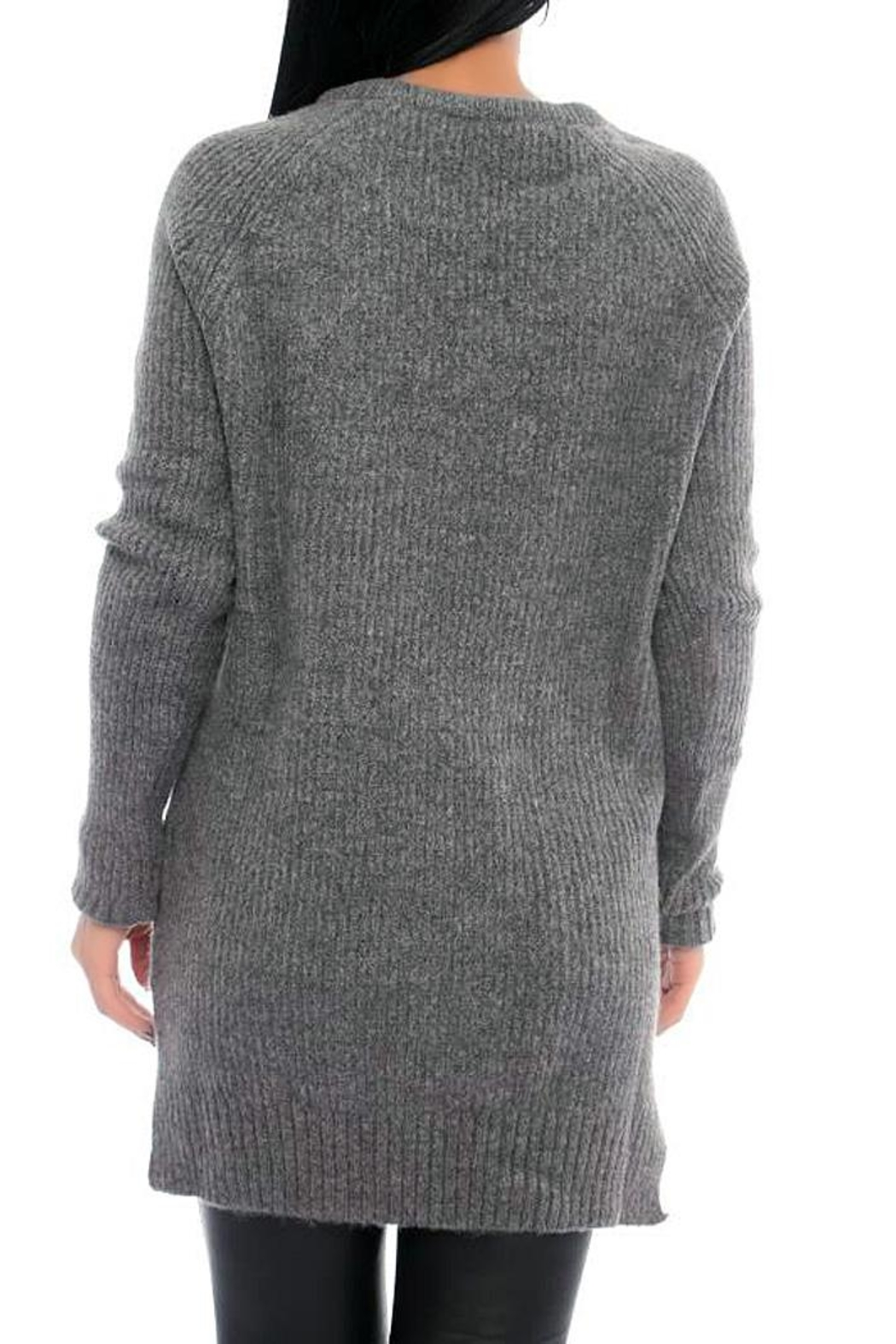 Marvy Fashion Ribbed Pullover - Front Full Image