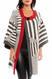 Marvy Fashion Striped Cardigan - Front cropped