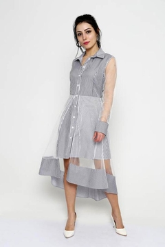 Marvy Fashion Striped Shirt Dress - Alternate List Image