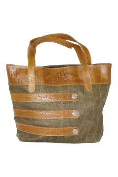 Shoptiques Product: Two-Tone Leather Hobo