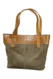Marvy Fashion Two-Tone Leather Hobo - Front full body