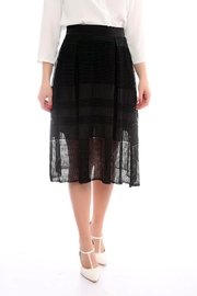Marvy Fashion Boutique  Black A Line Skirt - Product Mini Image