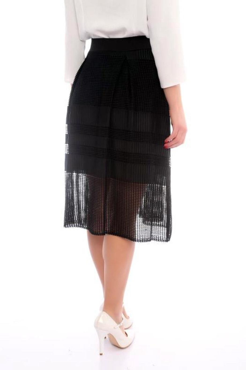 Marvy Fashion Boutique  Black A Line Skirt - Front Full Image