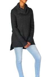 Marvy Fashion Boutique  Cowl Neck  Hi-Low Sweater - Front cropped