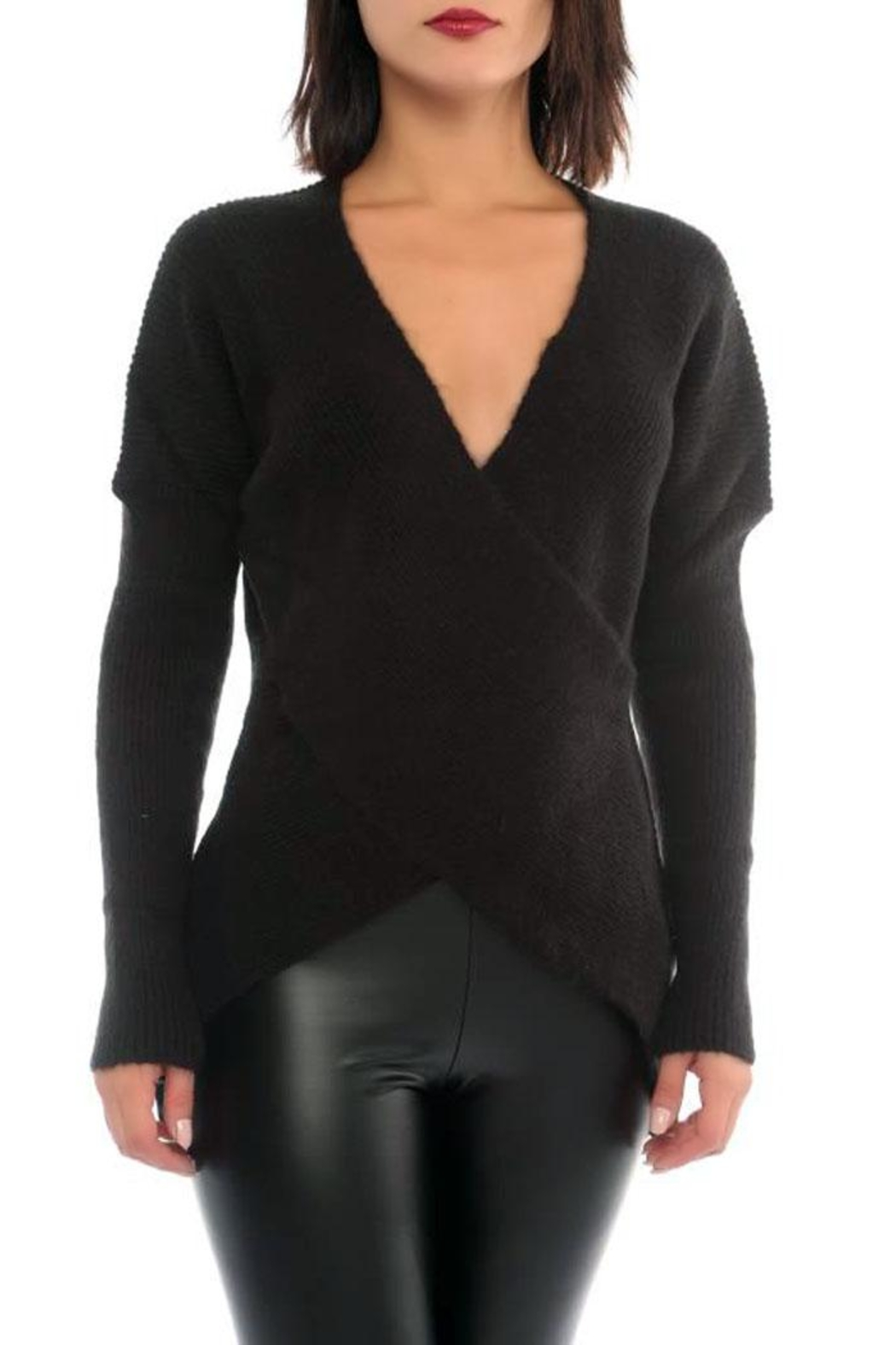 Marvy Fashion Boutique  Cross Front Sweater - Main Image