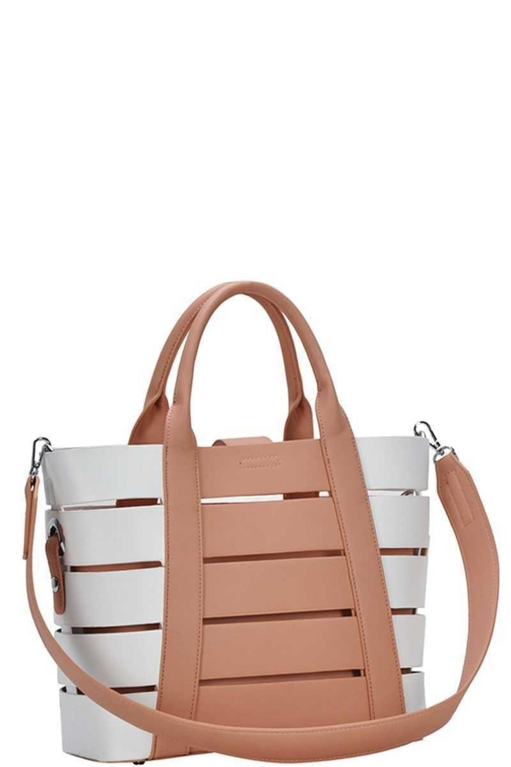 Marvy Fashion Boutique  Cut-Out Bucket  Bag - Front Full Image