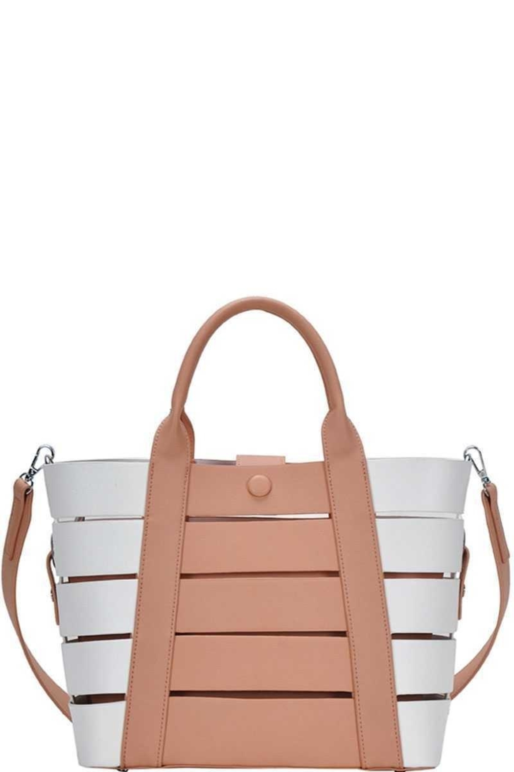 Marvy Fashion Boutique  Cut-Out Bucket  Bag - Front Cropped Image