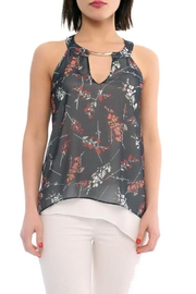 Marvy Fashion Boutique  Floral Print Layered Top - Front cropped