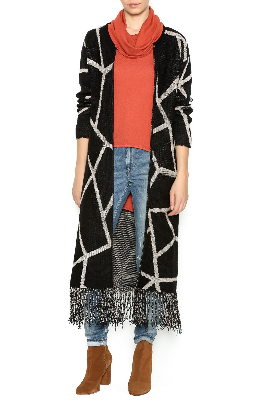 Marvy Fashion Boutique  Geo Print Cardigan - Front Cropped Image