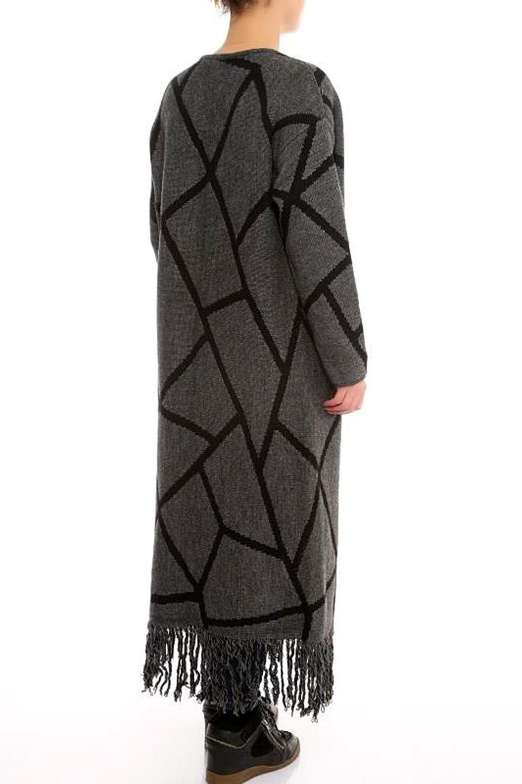 Marvy Fashion Boutique  Geo Print Cardigan - Front Full Image