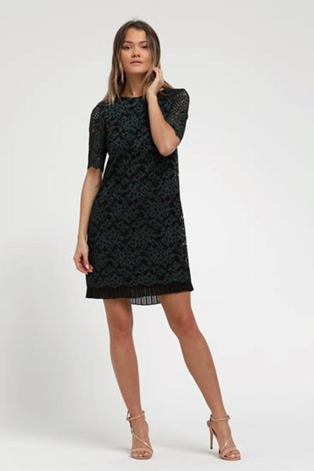 Marvy Fashion Boutique  Lace Dress - Side Cropped Image