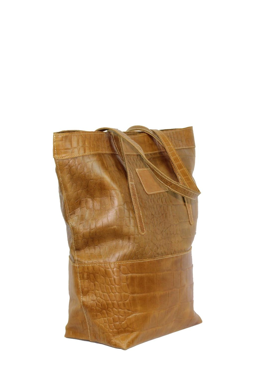 Marvy Fashion Boutique  Leather Bucket Bag - Front Full Image