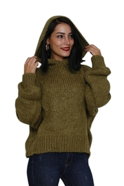 Marvy Fashion Boutique  Olive Hoodie Sweater - Product Mini Image