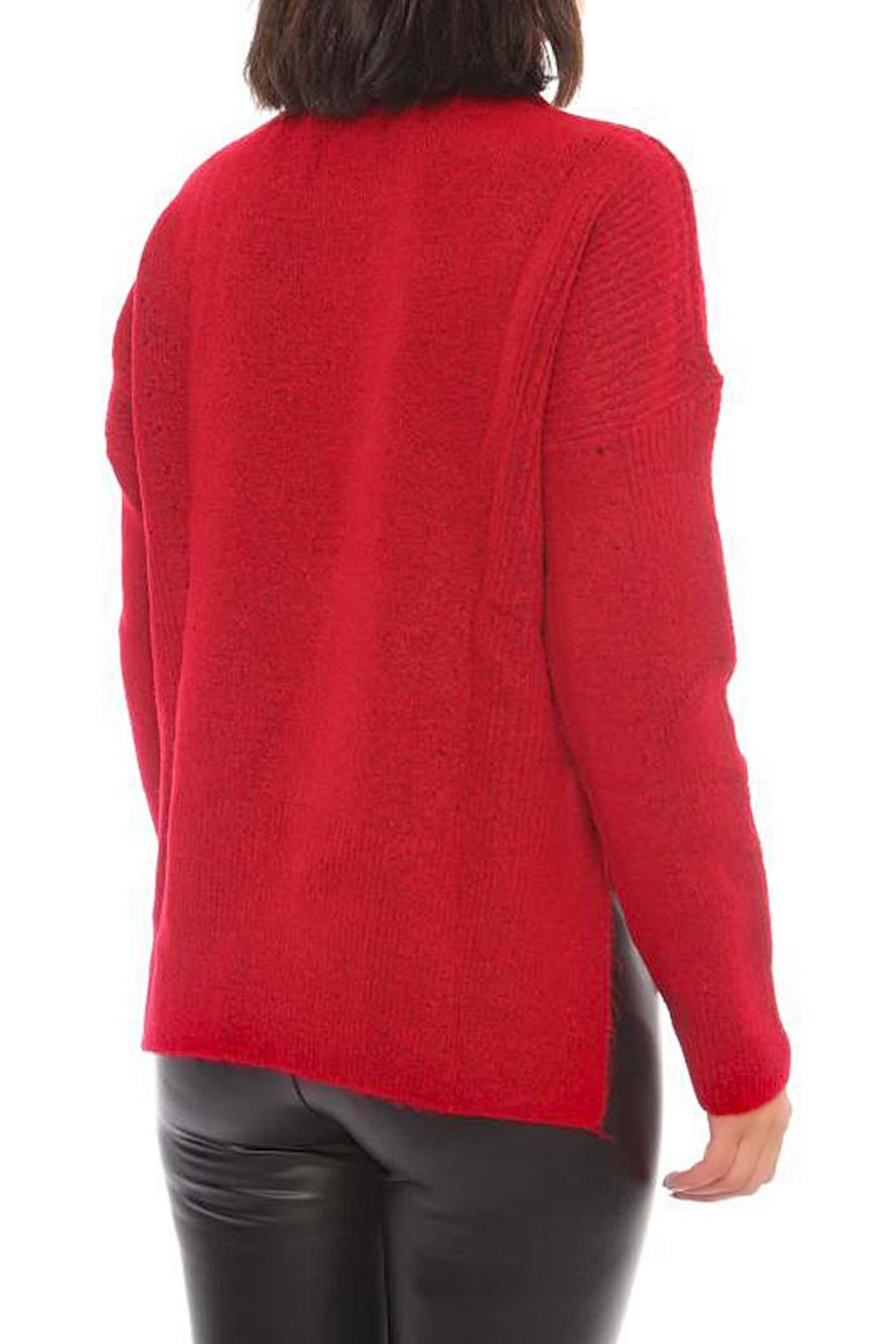 Marvy Fashion Boutique  Ribbed Pullover - Front Full Image