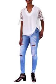 Marvy Fashion Boutique  White Lace Top - Product Mini Image