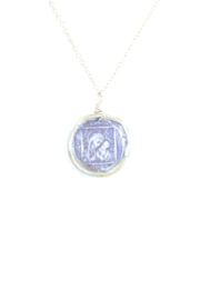 The Birds Nest MARY AND JESUS STAMP NECKLACE - 9 INCH CHAIN - Front full body