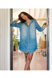 Frank & Eileen Mary Distressed Vintage Wash Denim Button Up Dress - Product Mini Image