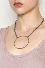 Mary Garrett Circle Pendant Necklace - Back cropped