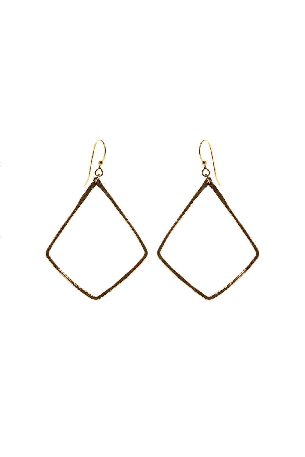 Mary Garrett Gold Earrings - Front Cropped Image