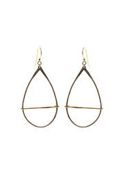 Mary Garrett Silver And Gold Earrings - Front cropped