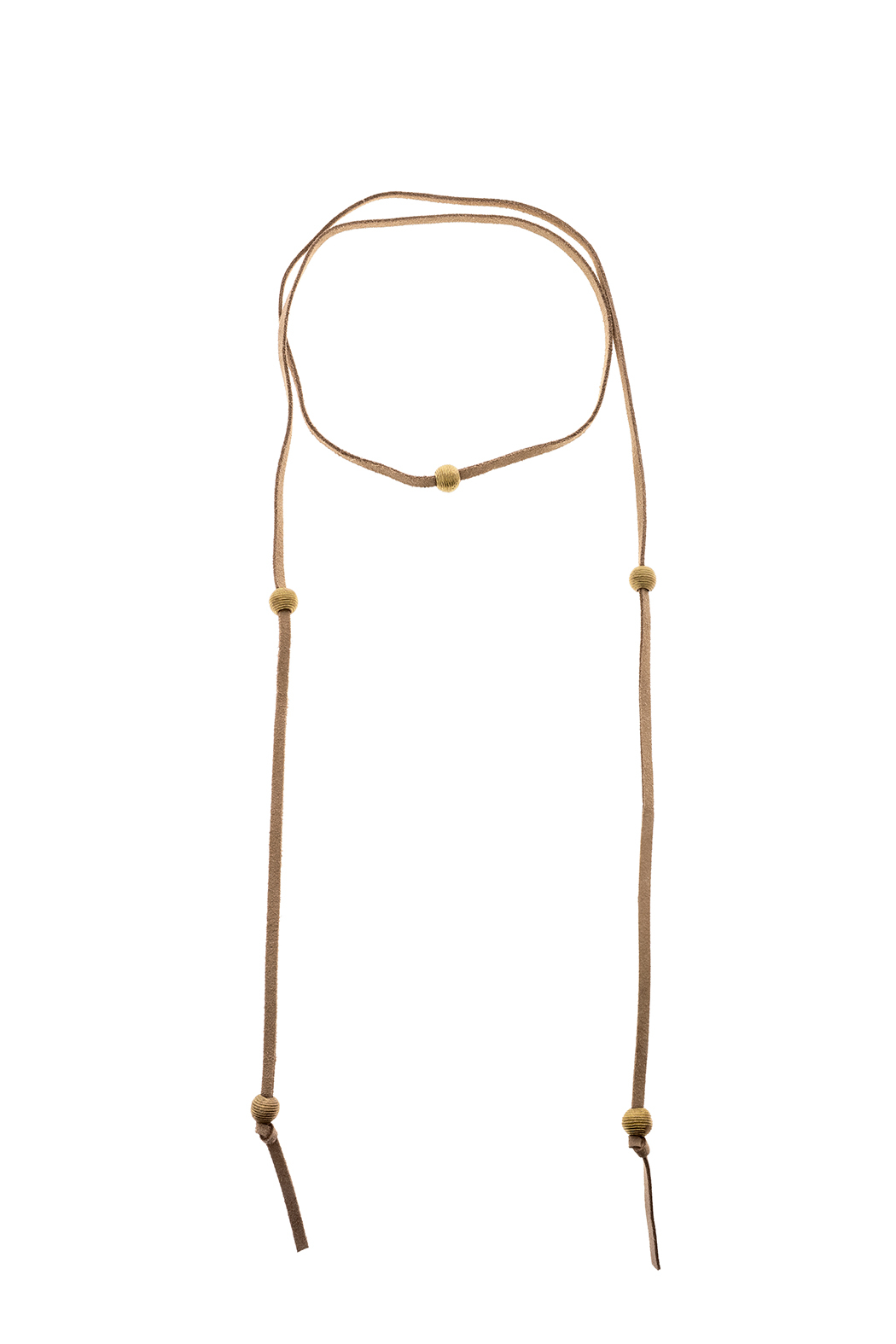 Mary Garrett Tan Leather Wrap Necklace - Main Image