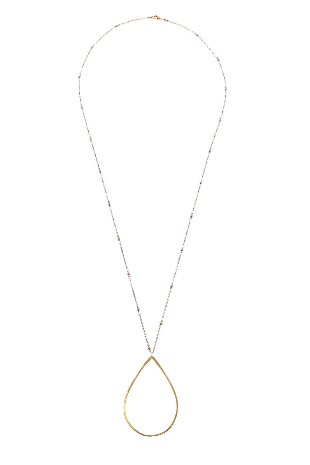 Mary Garrett Teardrop Pendant Necklace - Front Cropped Image