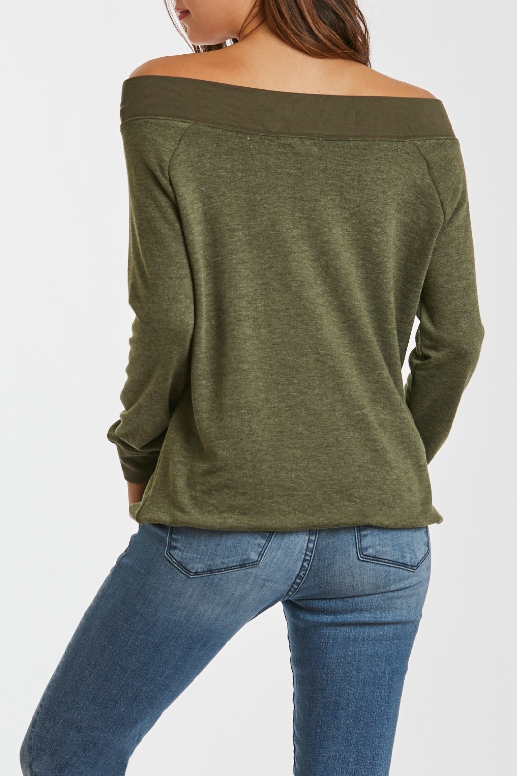 Another Love Mary Off Shoulder Sweatshirt - Side Cropped Image