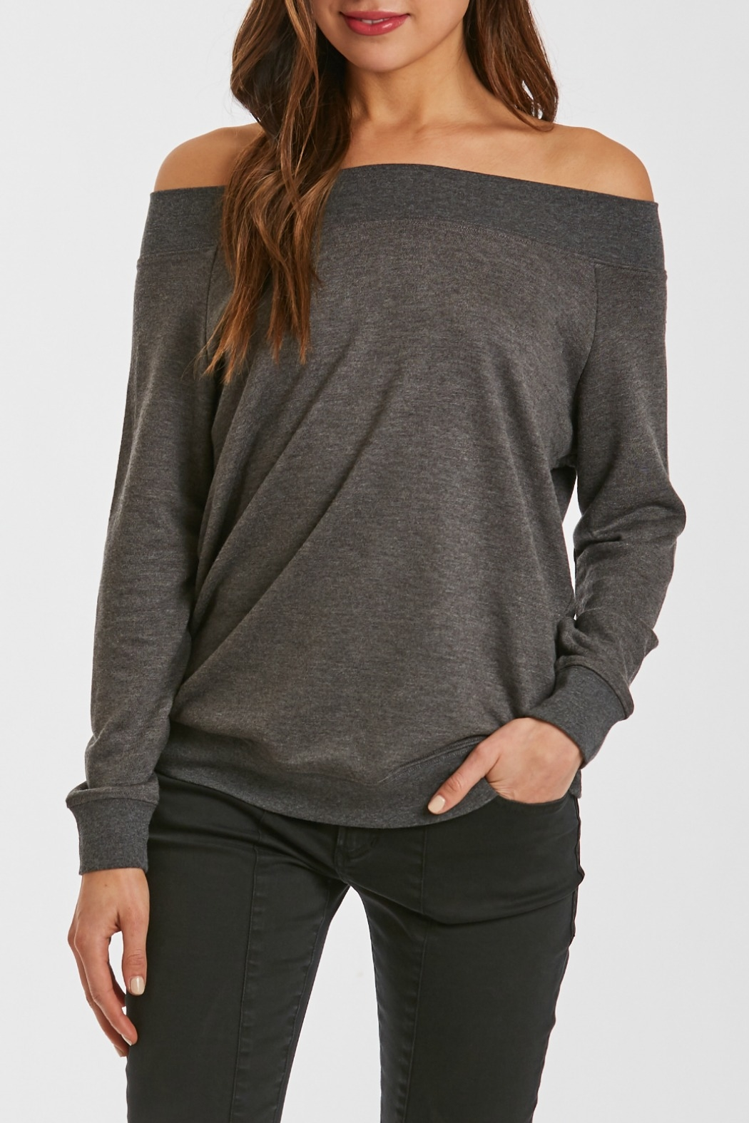 Another Love Mary Off Shoulder Sweatshirt - Main Image