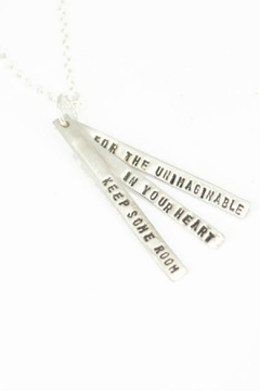 Chocolate and Steel Mary Oliver Necklace - Alternate List Image