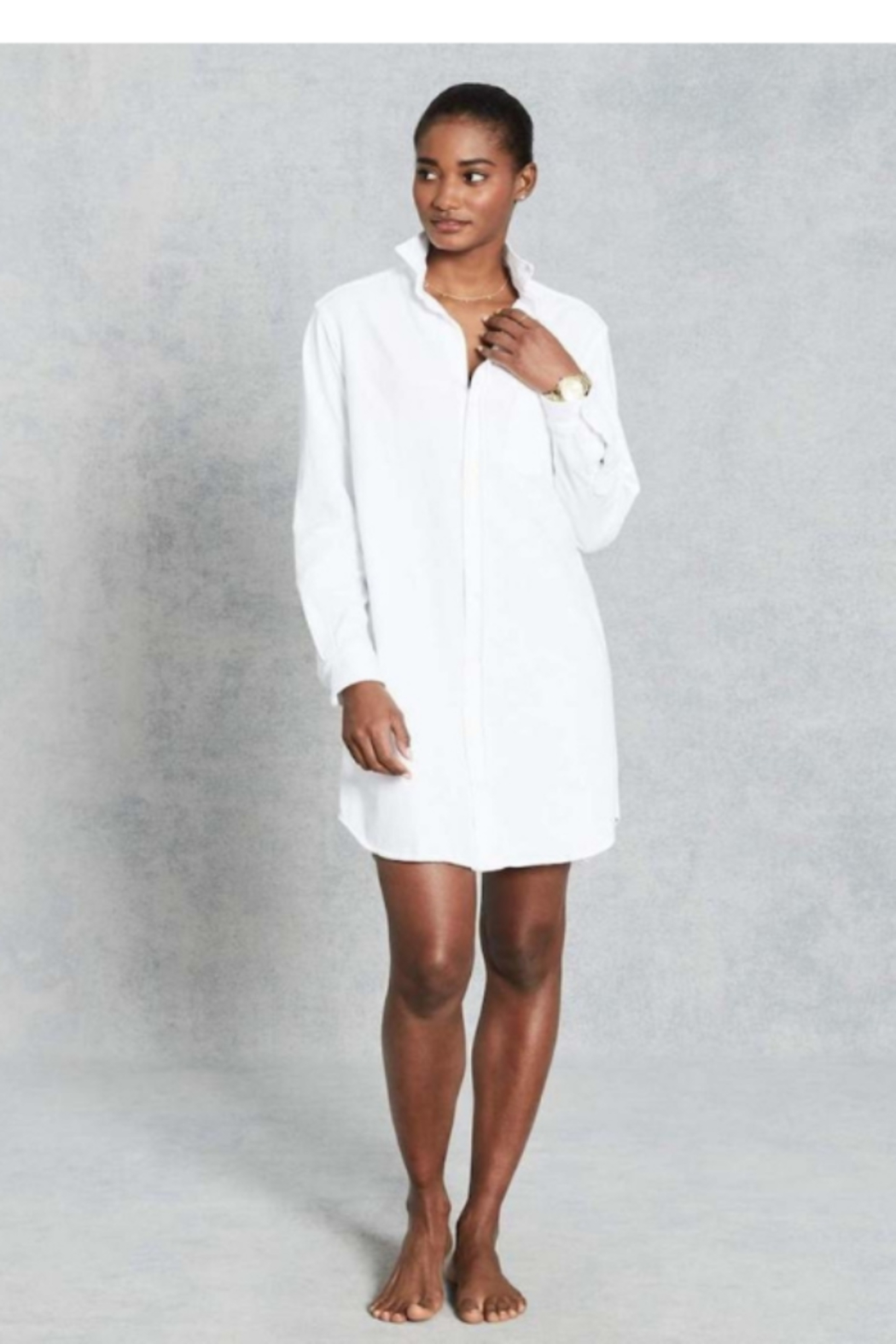 Frank & Eileen Mary Relaxed Button Down Shirt Dress - Front Full Image