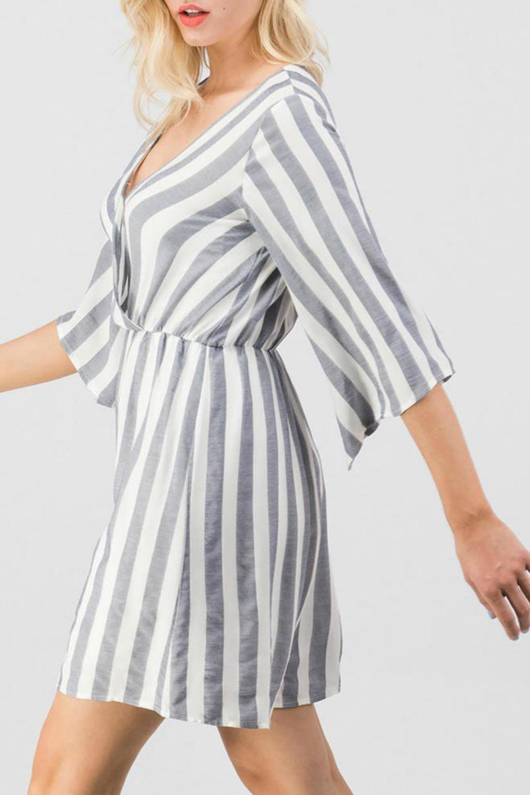 Trend:notes Mary Striped Dress - Front Full Image